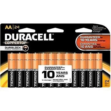 Duracell Coppertop AA Alkaline Batteries, 24/Pack