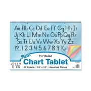"""Pacon® Colored Paper Chart Tablet Paper, 1"""" Rule, 24"""" x 16"""""""