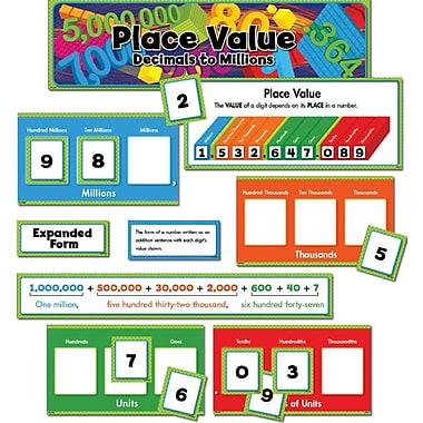 Creative Teaching Press Mini Bulletin Board Set, Place Value Decimals To Millions