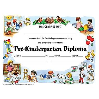 Hayes® Violet Border pre-kindergarten Diploma Certificate, 8 1/2
