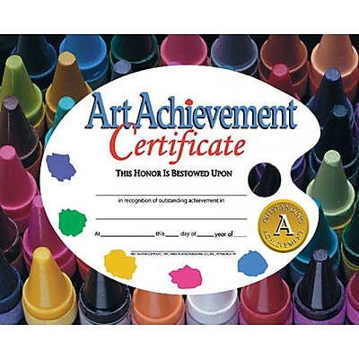 Hayes® Assorted Border Art Achievement Certificate, 8 1/2