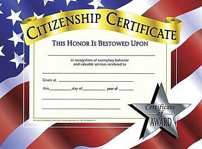 Citizenship Certificate, 8-1/2
