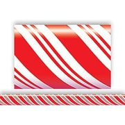 "Teacher Created Resources TCR4667 35"" x 3"" Straight Candy Cane Border Trim, Red/White"