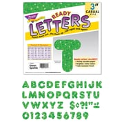 "Trend Enterprises® Ready Uppercase Letter, 3"", Sparkle Glitter, Green"