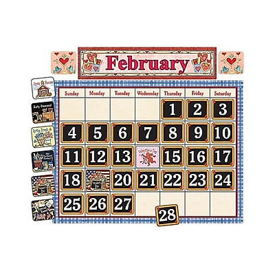 School Time Calendar Bulletin Board Set from Susan Winget, 80 pieces