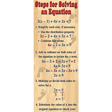 McDonald Publishing® Colossal Poster, Algebra: Solving Equations