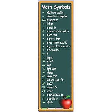 McDonald Publishing Colossal Poster, Math Symbols (MC-V1629)
