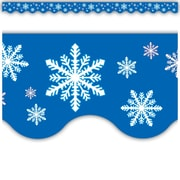 Teacher Created Resources® Infant - 12th Grades Scalloped Bulletin Board Border Trim, Snowflakes
