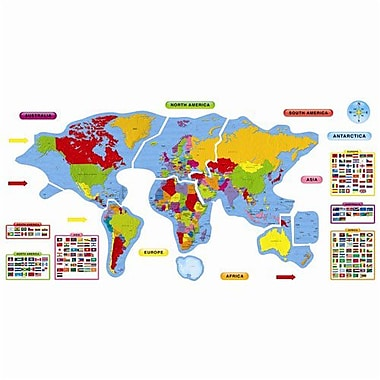 Trend Enterprises® Bulletin Board Set, Continents and Countries