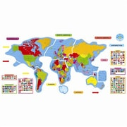Trend Enterprises Bulletin Board Set, Continents and Countries, 27/Set