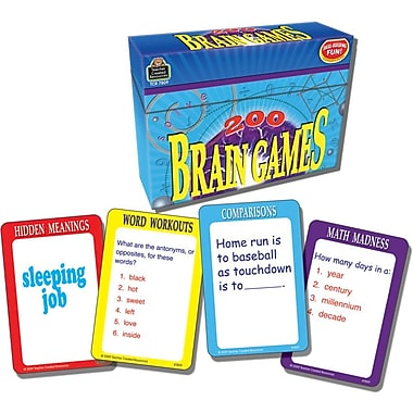 Teacher Created Resources 200 Brain Games, Grade 3 - 6 (TCR7809)