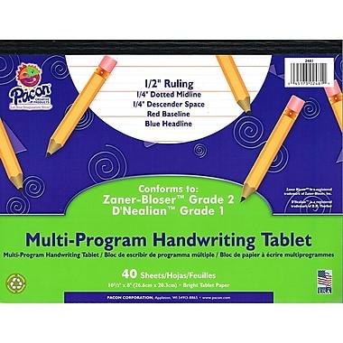 Pacon® Zaner-Bloser™ D'Nealian™ Multi-Program Handwriting Tablet Paper, Grades 1st-2nd, 10 1/2