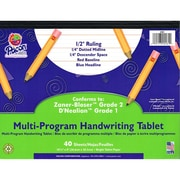 "Pacon® Zaner-Bloser™ D'Nealian™ Multi-Program Handwriting Tablet Paper, Grades 1st-2nd, 10 1/2"" x 8"""