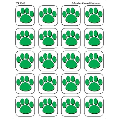 Teacher Created Resources Stickers, Green Paw Print