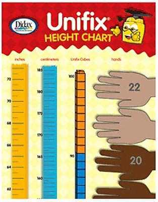Didax® Unifix® Height Chart, Grades Kindergarten - 5th