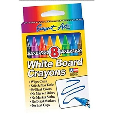 Sargent Art® Standard Regular Whiteboard Crayon, 8/Box