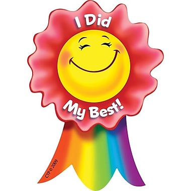 Creative Teaching Press Smiling Ribbon Rewards, I Did My Best!, 36/Pack (CTP1086)