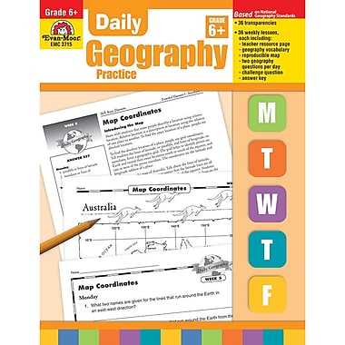Evan-Moor® Daily Geography Practice Resource Book, Grades 6th