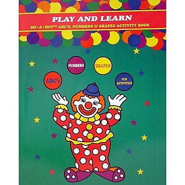 Do-A-Dot Art Play and Learn A,B,C Numbers and Shapes Activity Book (DADB310)