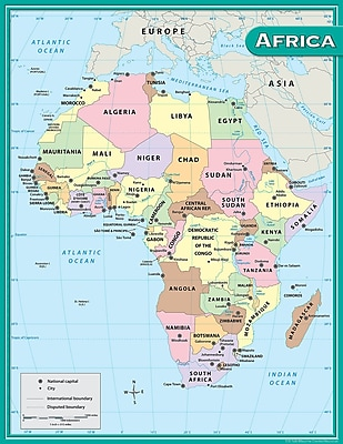 Teacher Created Resources® Africa Map Chart