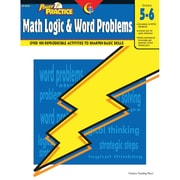 Creative Teaching Press Power Practice Math Logic and Word Problems Book, Grades 5th -6th