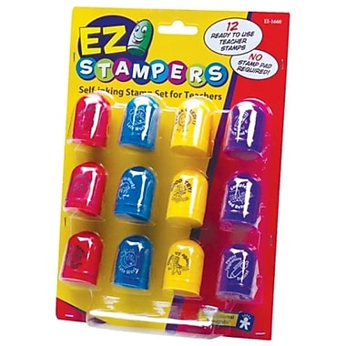 Educational Insights Self-Inking Teacher Stamp Set, 12/Pack (1660)