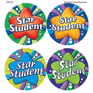 Teacher Created Resources Star Student Wear 'Em Badge, 32/Pack (TCR4497)