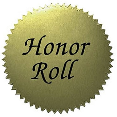 Hayes® Gold Stickers, Honor Roll