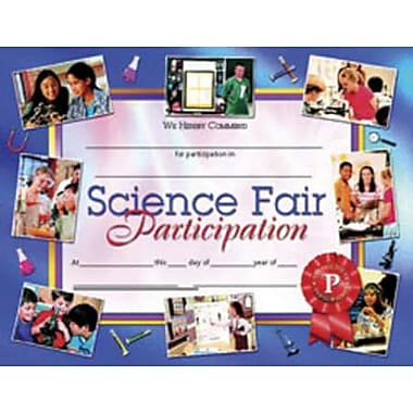 Hayes® Science Fair Participation Certificate, 8 1/2