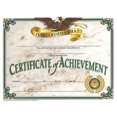 Flipside Greenborder Certificate Of Achievement, 8 1/2