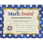 """Flipside Gold Border Merit Award Certificate, 81/2"""" x 11"""", 30/Pack (H-VA507)"""