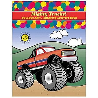 Do•A•Dot Art!™ Creative Activity Book, Mighty Trucks!, 24 pages