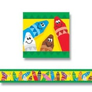 "TREND T-85041 35.75' x 2.75"" Straight Colorful Crayons Bolder Border, Multicolor"