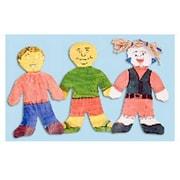 "Roylco® 7 1/2"" x 12"" Finger Paint Craft Paper, Wee Kid Shape"