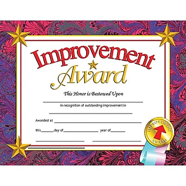 Hayes® Improvement Award Certificate, 8 1/2
