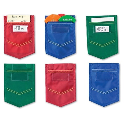 Learning Resources Mini Pockets, Blue, Red, Green, 4