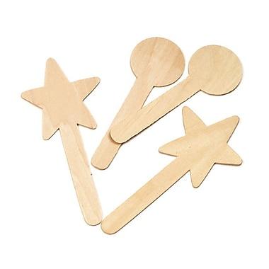 Chenille Kraft – Grands bâtonnets de formes géométriques en bois pour bricolage, 36/paquet (CK-362902)