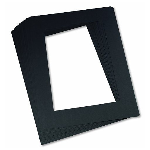 Pacon® Pre-Cut Mat Frame, Black   Staples