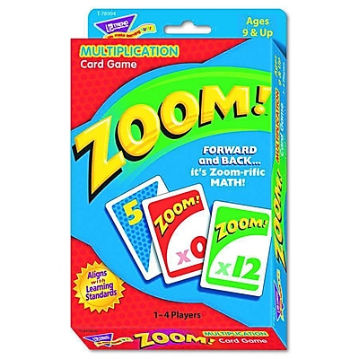 Trend Enterprises® Zoom! Card Game, Multiplication