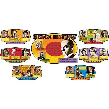 Trend Enterprises Bulletin Board Set, Black History, 7/Pack (T-8095)