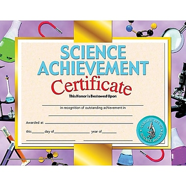 Hayes® Science Achievement Certificate, 8 1/2