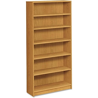 HON® 1870 Series Wood Laminate Bookcase, 6-Shelf, Harvest