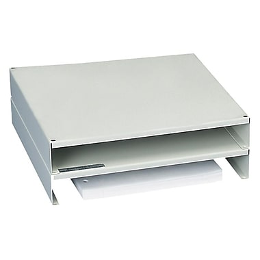 martin yale stackable monitor riser gray