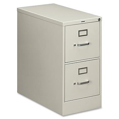 HON 210 Series 2 Drawer Vertical File, Gray,Letter, 15''W (HON212PQ)