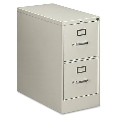 HON® 210 Series 2 Drawer Vertical File Cabinet, Letter, Light Grey, 28