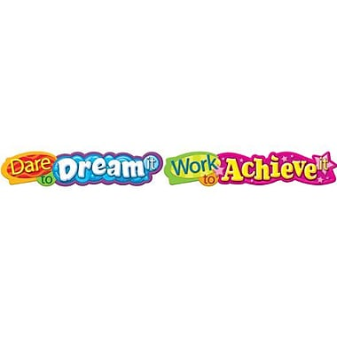 TREND T-25053 10' Dare to dream it Quotable Expressions Banner, Multicolor