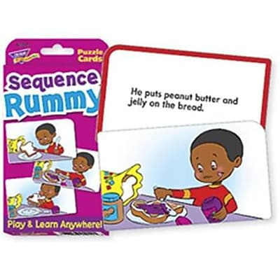 Trend Enterprises® Challenge® Sequence Rummy Cards, Grades pre-kindergarten - 3rd