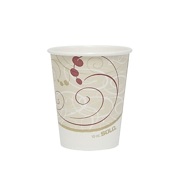 SOLO® Symphony® Paper Hot Cups, 10 oz., 50/Pack