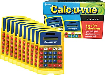Learning Resources® Basic Student Calc-u-vue® Classpack Set Of 10