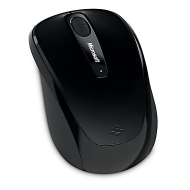Microsoft Wireless Mobile Mouse 3500, BlueTrack USB Wireless Mouse, Black (GMF-00030)